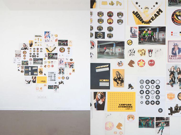 projet d'identité visuelle pour l'équipe caennaise de Roller Derby, Leopard Avengers (photo © Michèle Gottstein)