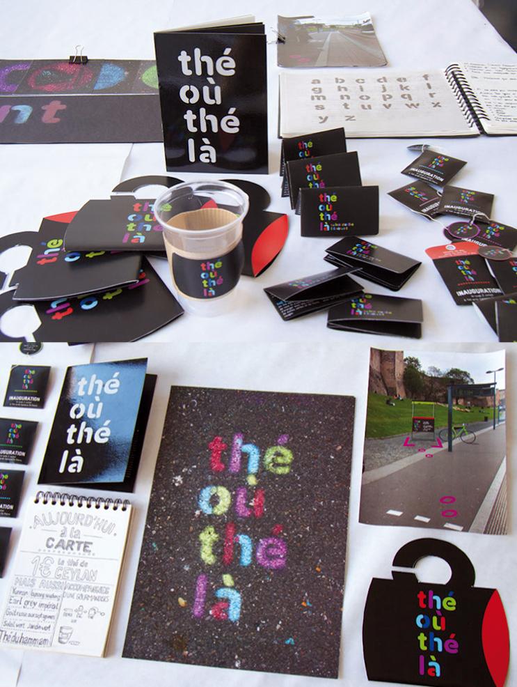 projet d'identité visuelle d'Élise Bouis, Thé où Thé là (photo © Michèle Gottstein)