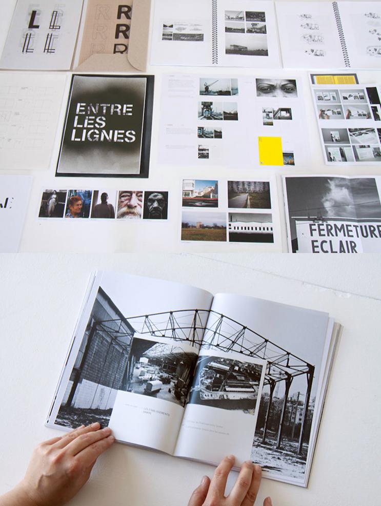 projet d'édition sur le Presqu'île de Caen de Nathan Latour-Novo, Entre les lignes (photo © Michèle Gottstein)