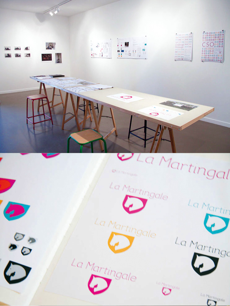 projet d'identité visuelle pour un centre équestre de Tamara Delloue, La Martingale (photo © Michèle Gottstein)