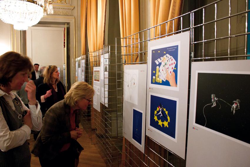 exposition à l'Ambassade d'Allemagne - photo © Frédéric Lionnet