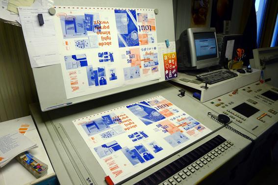 Calage chez l'imprimeur (photo © Benoît Santiard)
