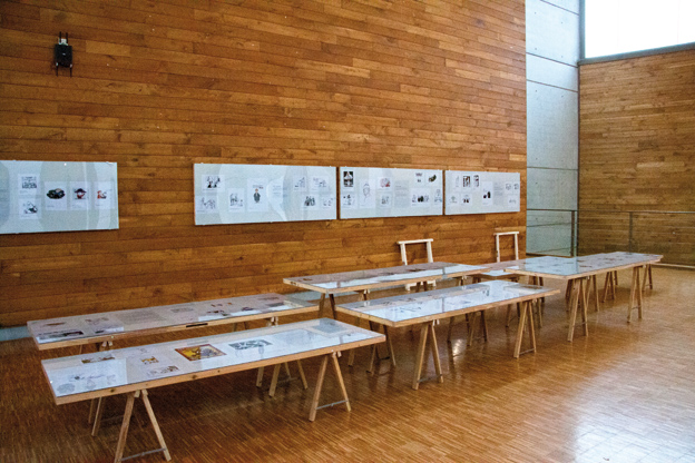 Vue générale de l'exposition des dessins professionnels (photo © Caroline Buisson)