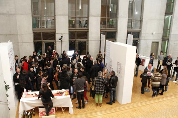 finissage de l'exposition en présence des diplômés (photo © Ève Madec)
