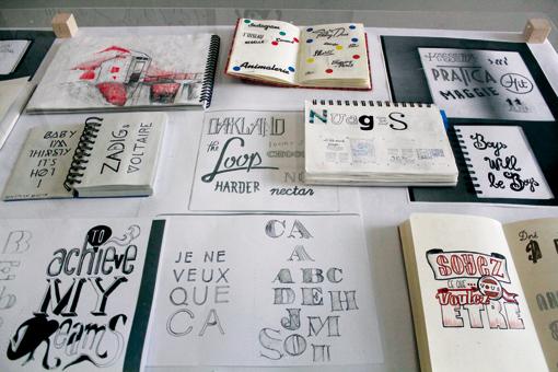 Carnet de typo, sujet de Jean-Baptiste Levée (photo © Ève Madec)
