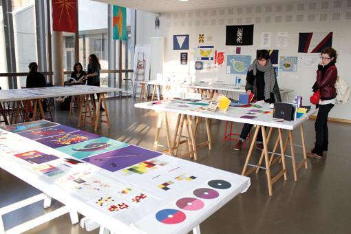 Atelier 3ème année Design Graphique (photo © Éve Madec)