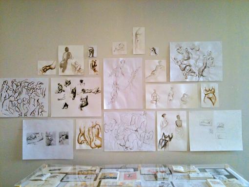 Modèle vivant, cours de Sarah Fouquet (photo c Sarah Fouquet)
