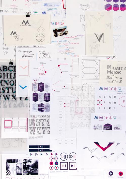 """Planches de recherche d'Anaïs Blanc-Gonnet pour son projet de DNAT """"Majortom"""" © photo de Nathan Latour-Novo"""