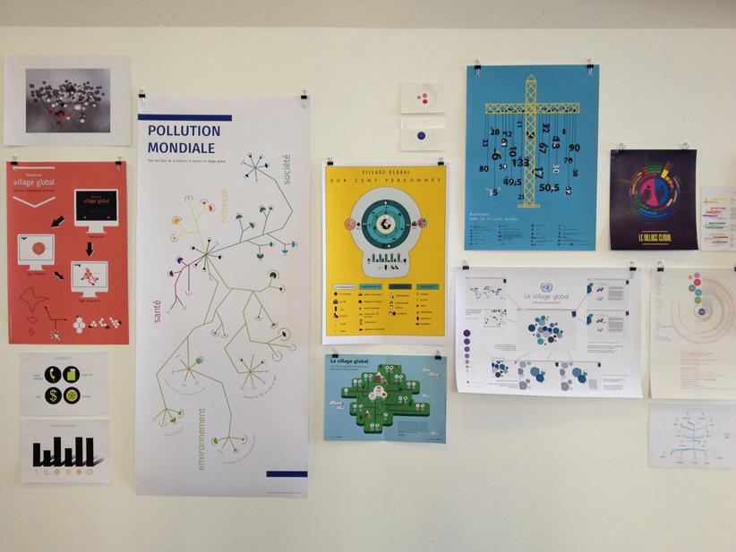 """""""Data visualisation"""", atelier encadré par Christophe Bouder et Sarah Fouquet, deuxième année design graphique."""