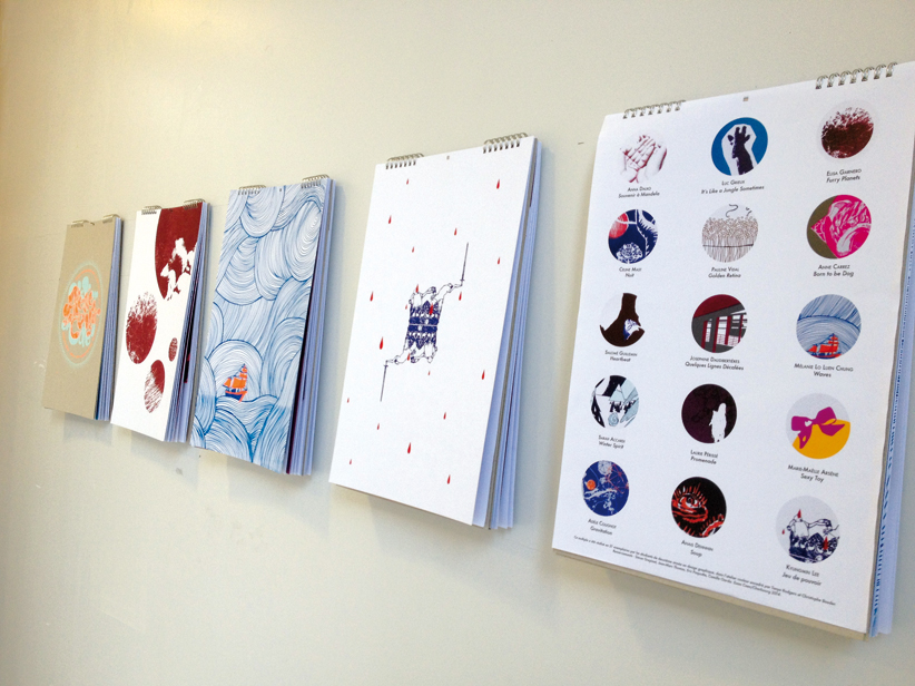 """""""En couleur"""", atelier de Tanya Rodgers, deuxième année design graphique."""
