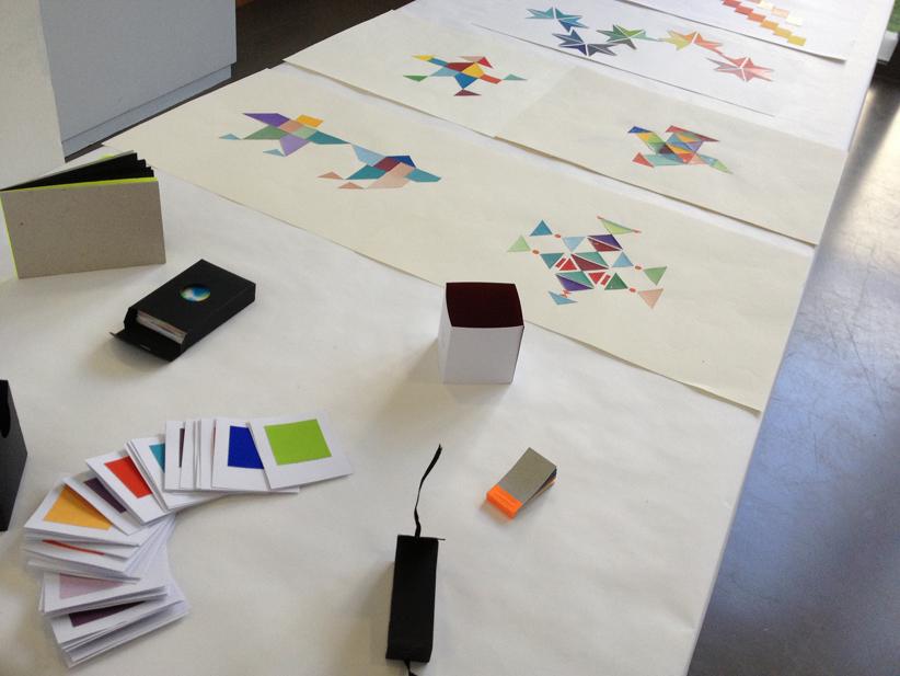 Travail de nuancier, suivi par Sarah Fouquet, deuxième année design graphique.