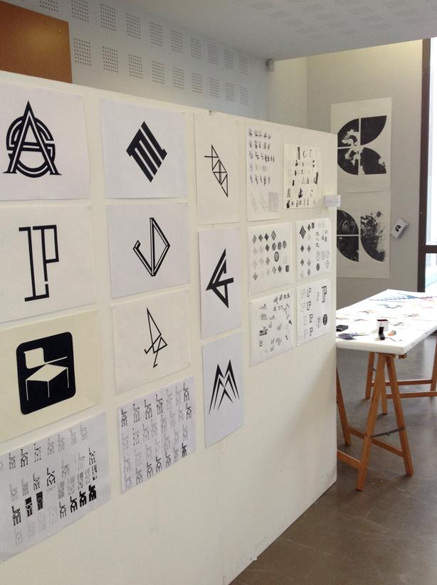 """""""Monogramme"""", exercice typographique de Jean-Baptiste Levée, deuxième année design graphique."""