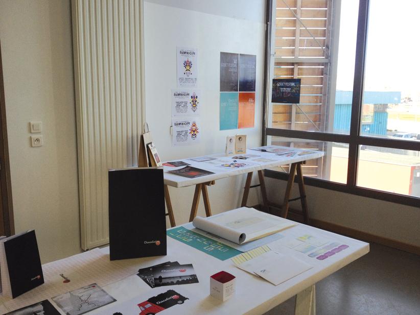 """""""Texte-Image"""", atelier encadré par Tanya Rodgers et Christophe Bouder,  deuxième année design graphique."""