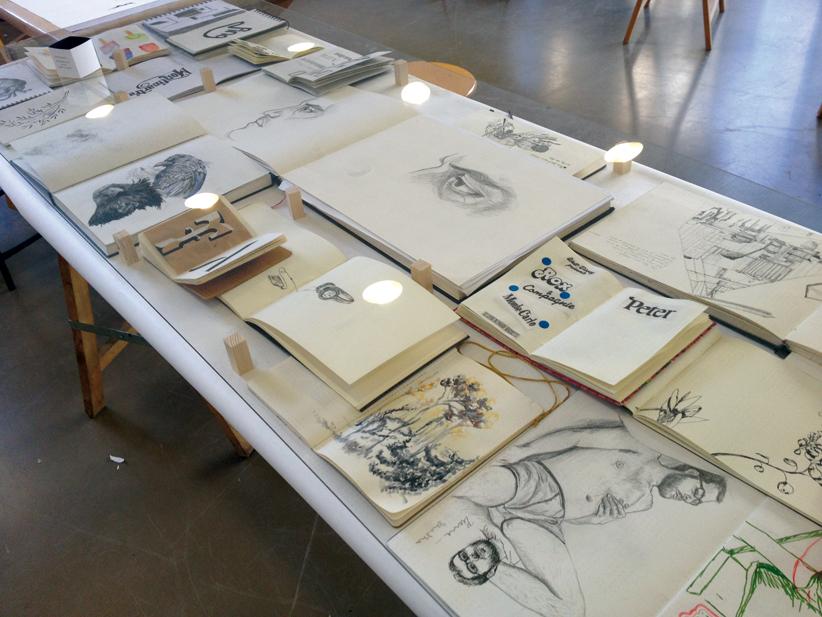 Carnets de dessins et de typographie, Sarah Fouquet et Jean-Baptiste Levée, troisième année design graphique