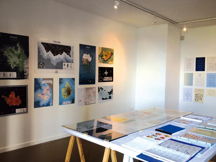 """""""États-Nations"""", atelier encadré par Jean-Baptiste Levée, troisième année design graphique."""
