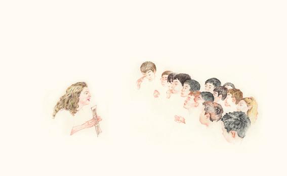 dessin de Kyungmin Lee (2ème année design graphique)