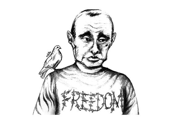 dessin d'Adèle Cougnot sur Vladimir Poutine