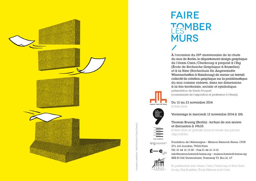 Carton d'invitation de la Maison Henrich Heine © Cheng Cheng Li & Sarah Fouquet