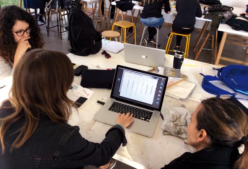 travail en équipe durant le workshop