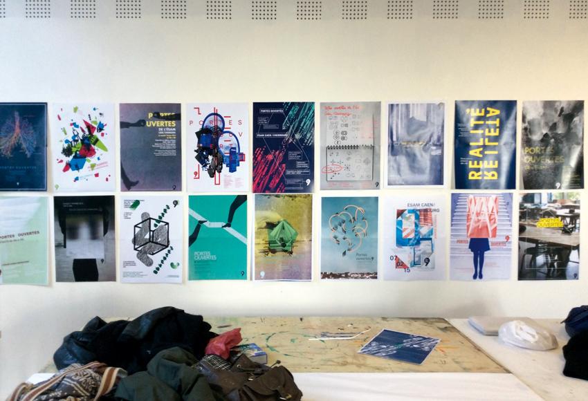 ensemble des 18 projets d'affiches