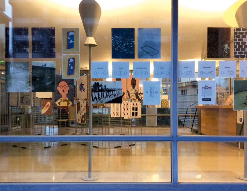 Vue de l'exposition depuis l'extérieur © Sarah Fouquet