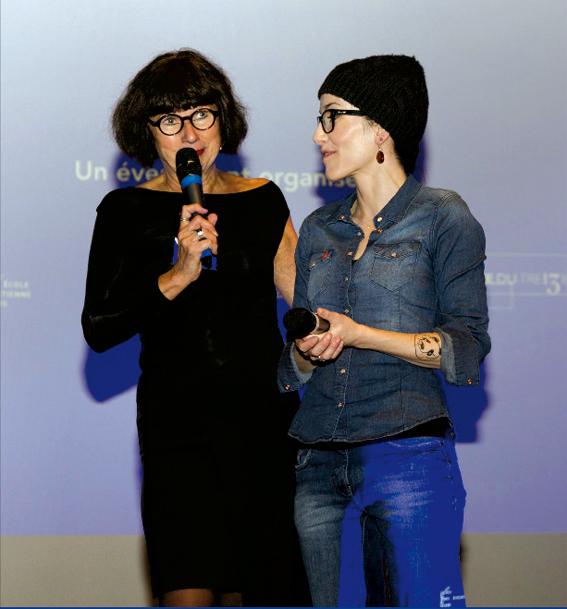 Discours de remise des prix avec Luce Mondor et Coco @ école estienne