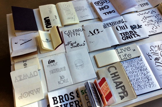 Carnets de typo, 2e année design graphique © Sarah Fouquet
