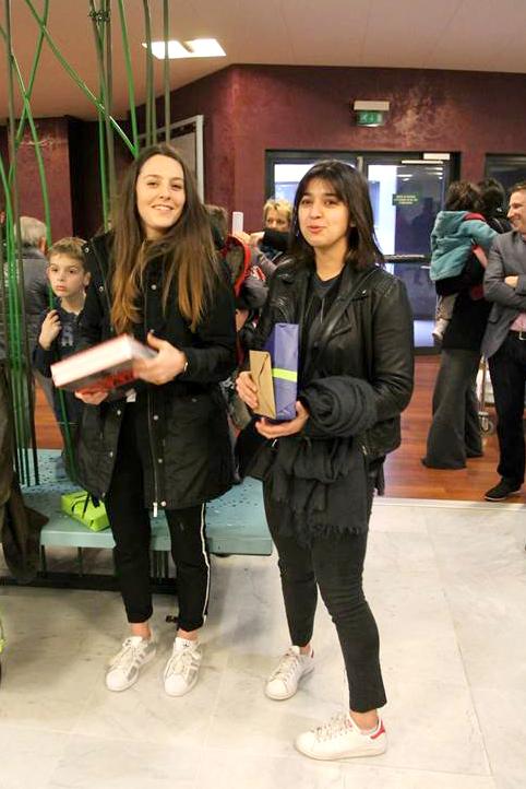 Lauréates du concours : Adèle Mabire et Laura Lucaccio
