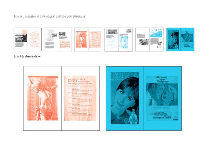 """Recherches de chemin de fer et mise en relation des archives de Pierre Joffroy avec """"Le ciel divisé"""" de Christa Wolf © Loriane Bouhier et Émeline Sauvaget"""
