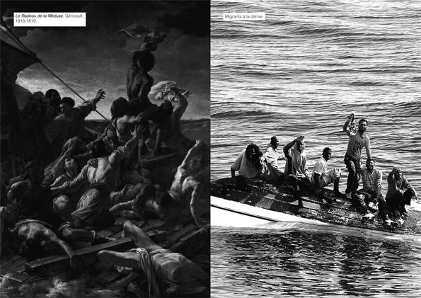 double page du journal des étudiants de l'ésac Cambrai, atelier encadré par Gilles Dupuis