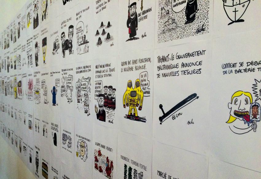 Détail de l'exposition de Biche, photo © Sarah Fouquet