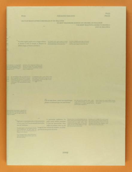 catalogue du Prix Fernand Baudin, 2010, Bruxelles Export, WBI, AWEX © Huz & Bosshard